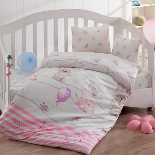 Спален комплект за кошара Слонче розово