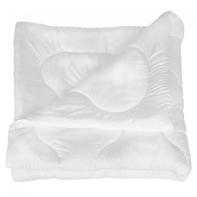Олекотена завивка от микрофибър - Бяла