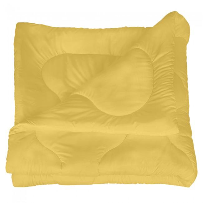 Олекотена завивка от микрофибър - Жълта
