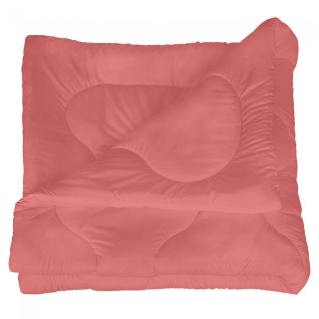 Олекотена завивка от микрофибър - Наситено розова