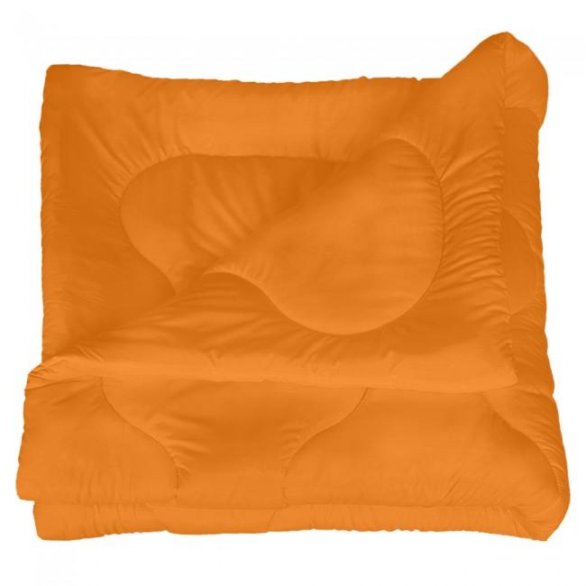 Олекотена завивка от микрофибър - Оранжева