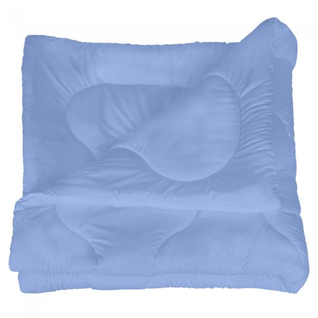 Олекотена завивка от микрофибър - Синя