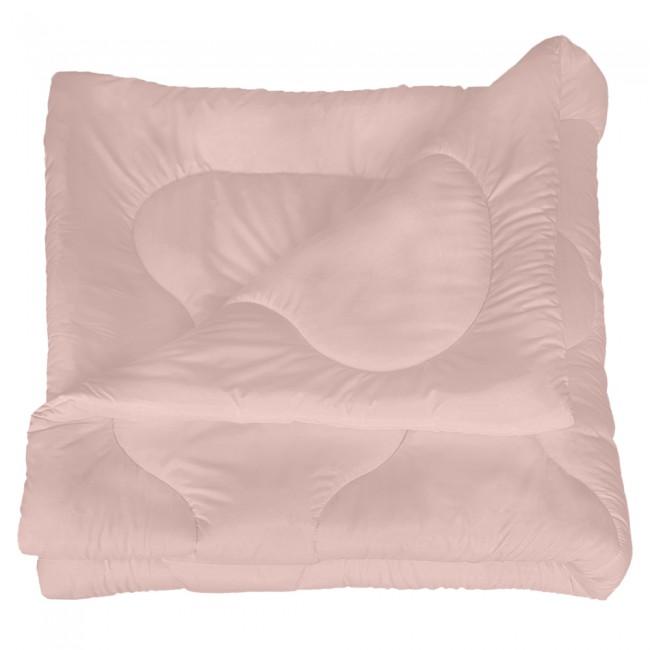Олекотена завивка от микрофибър - Светло розова