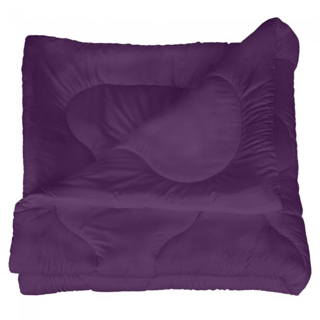 Олекотена завивка от микрофибър - Тъмно лилава