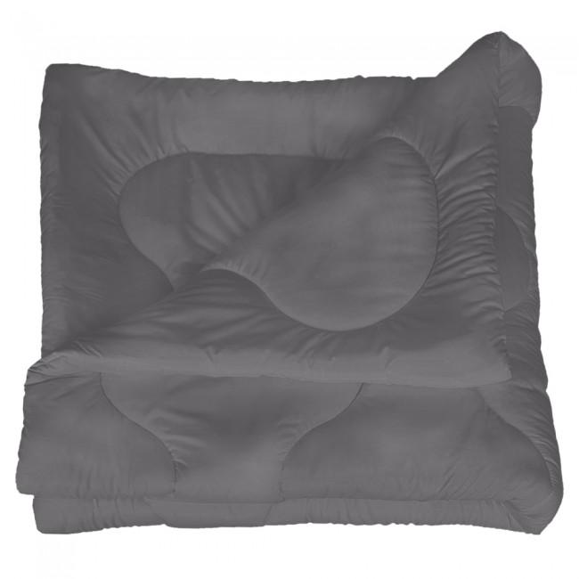 Олекотена завивка от микрофибър - Тъмно сива