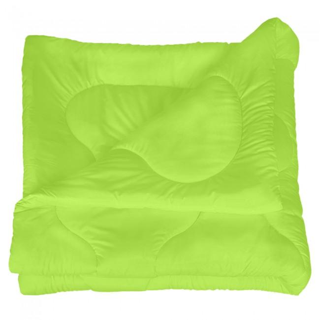 Олекотена завивка от микрофибър - Зелена