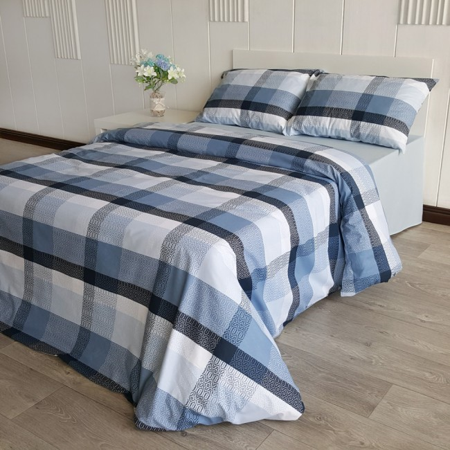 Спален комплект Чекър син