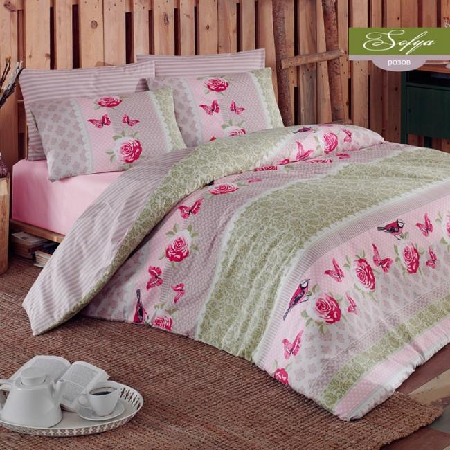 Спален комплект София розов