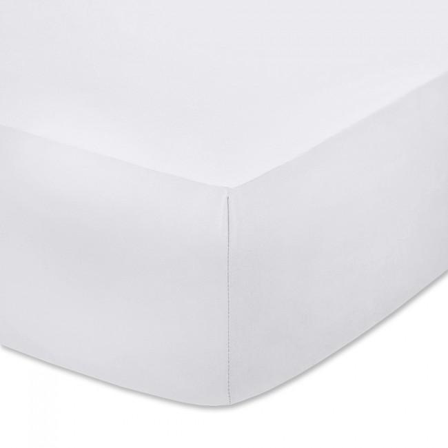 Чаршаф с ластик от памучно трико Бял
