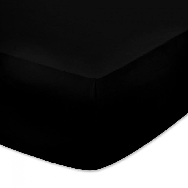 Чаршаф с ластик от памучно трико Черен