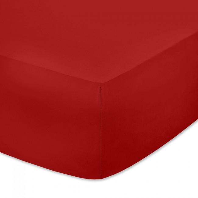 Чаршаф с ластик от памучно трико Червен