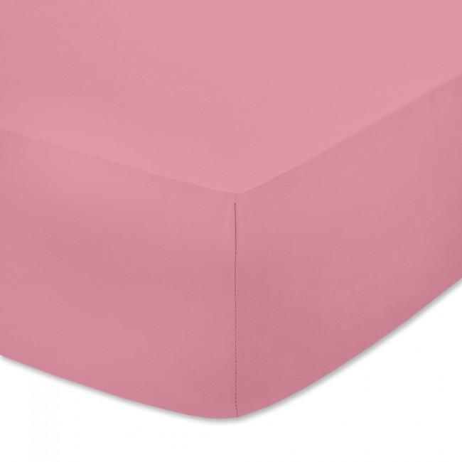 Чаршаф с ластик от памучно трико Пастелно розов