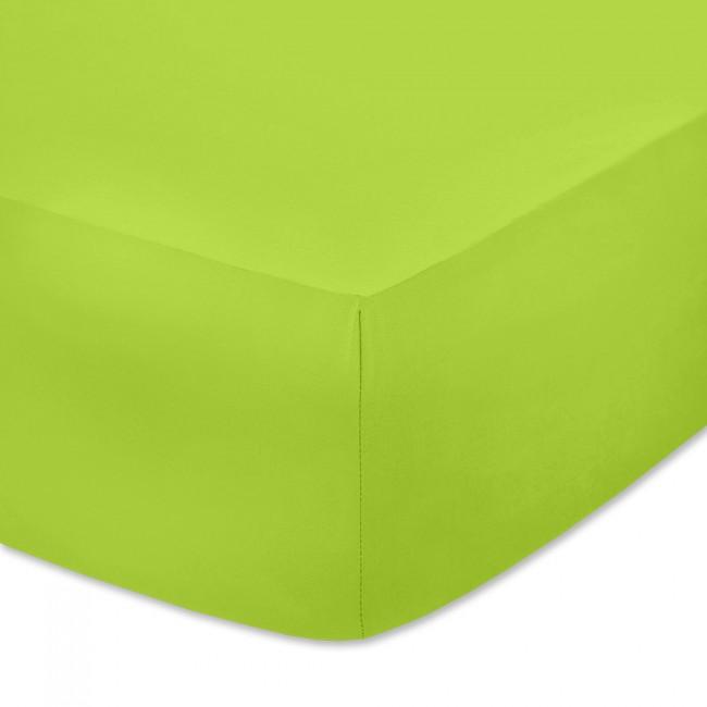 Чаршаф с ластик от памучно трико Ярко зелен