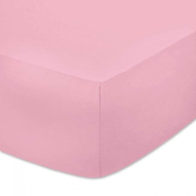 Чаршаф с ластик от памучно трико Розов