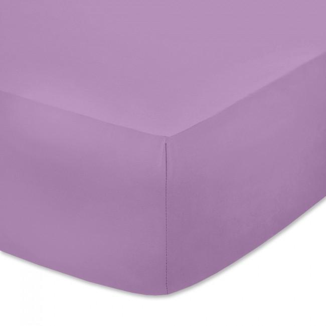Чаршаф с ластик от памучно трико Светло лилав