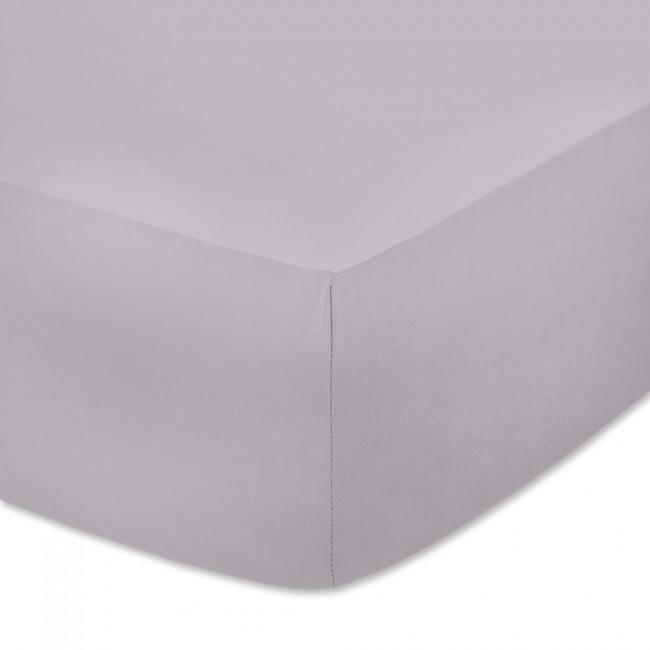 Чаршаф с ластик от памучно трико Светло сив